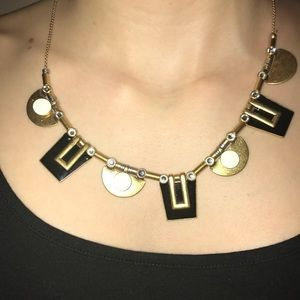 J. Crew Black white and gold necklace